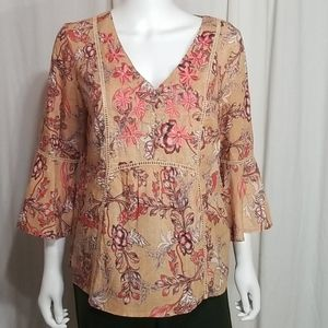 Vintage America- Embroidered Floral Blouse